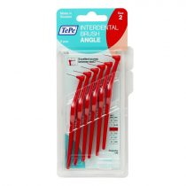 TePe interdental brush angle fogköztisztító kefe 6 db/csomag - 2-piros (0,5 mm)