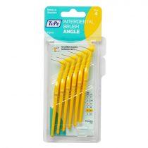 TePe interdental brush angle fogköztisztító kefe 6 db/csomag - 4-sárga (0,7 mm)