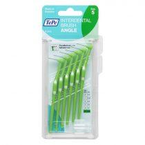 TePe interdental brush angle fogköztisztító kefe 6 db/csomag - 5-zöld (0,8 mm)