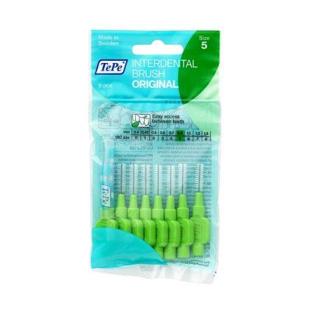 TePe Interdental brush original fogköztisztító kefe 8 db/csomag - 5-zöld (0,8 mm)