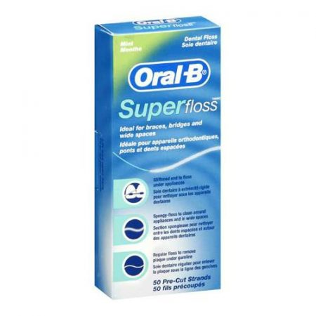Oral-B Superfloss  - mentolos 50 db