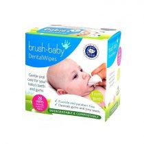 Brush-Baby DentalWipes Baba szájtisztító kendő 0-16 hónapos korig 28db