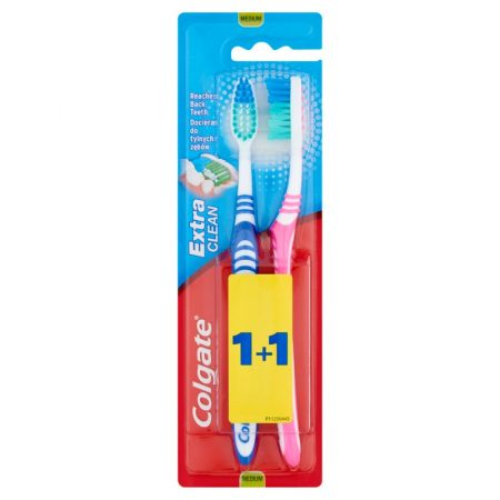 Colgate fogkefe Extra Clean Medium 2 db