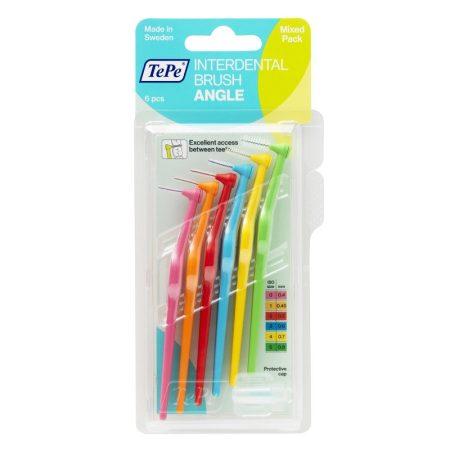 TePe interdental brush angle fogköztisztító kefe vegyes méretek 6 db/csomag