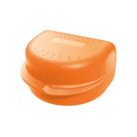 Protézis tárolódoboz  - narancs