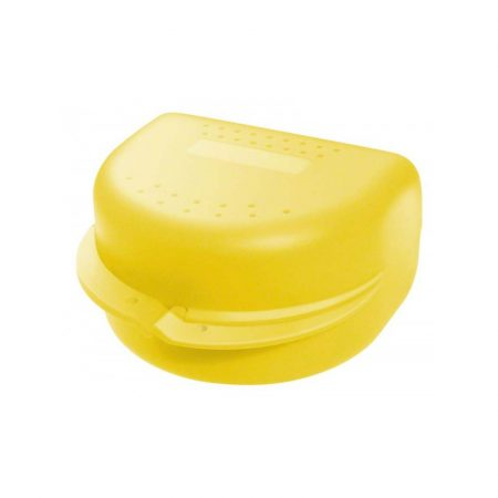 Protézis tárolódoboz  - sárga