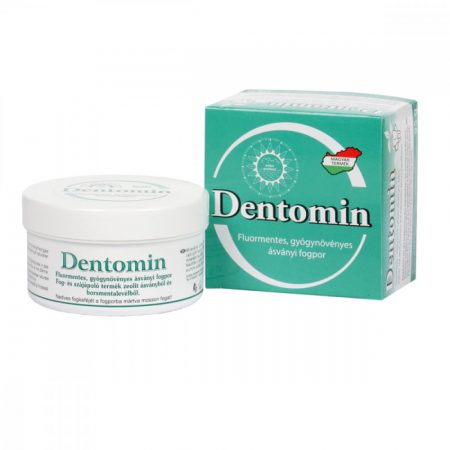 Dentomin fogpor 95g - Gyógynövényes - zöld