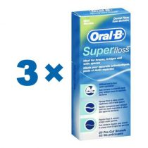Oral-B Superfloss  - mentolos Csomag 3x50db