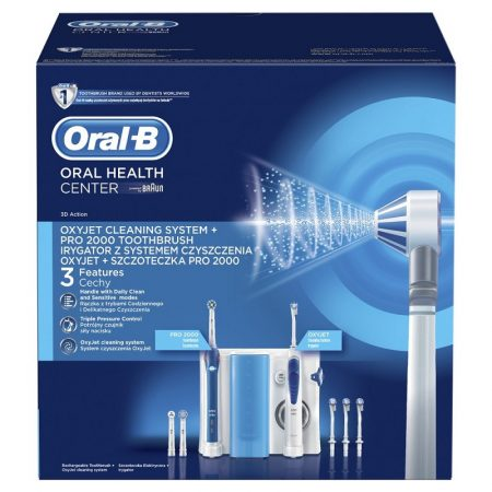 Oral-B OC20 + PRO 2000 Szájcenter (elektromos fogkefe + szájzuhany)