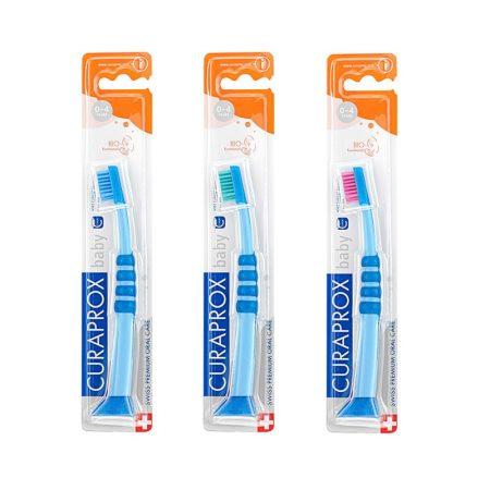 Curaprox 4260 CuraBaby fogkefe - kék