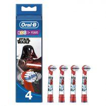 Oral-B EB10-4 Stages Power gyermek fogkefe pótfej Star Wars 4db