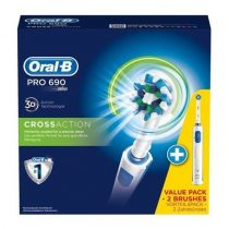 Oral-B PRO 690 CrossAction DUOPACK elektromos fogkefe csomag