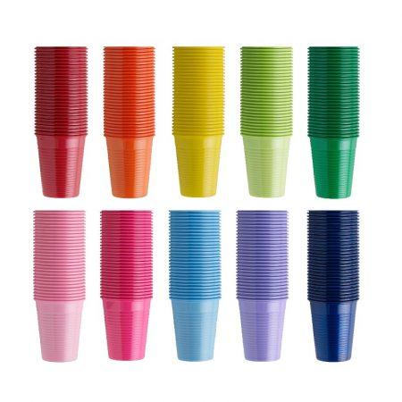 Műanyag pohár 100db - sötétkék