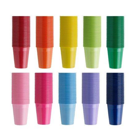 Műanyag pohár 100db - rózsaszín