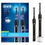 Oral-B PRO 1 790 Black Design Edition DUOPACK elektromos fogkefe csomag