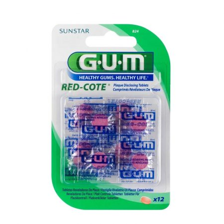GUM Red-Cote plakkfestő tabletta 12db