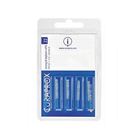 Curaprox Strong & Implant fogköztisztító kefe 5db - CPS 22 - kék