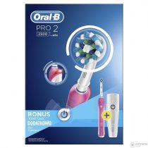 Oral-B PRO 2 2500 Pink elektromos fogkefe
