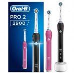 Oral-B PRO 2 2900 BLACK & PINK DUOPACK elektromos fogkefe csomag