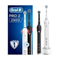 Oral-B PRO 2 2900 BLACK DUOPACK elektromos fogkefe csomag
