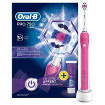 Oral-B PRO 750 3D White elektromos fogkefe ajándék fogkrémmel