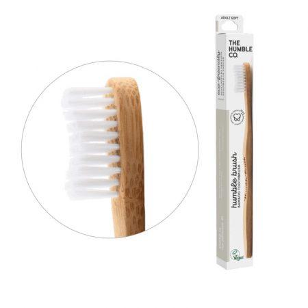 Humble Brush bambusz fogkefe soft - fehér
