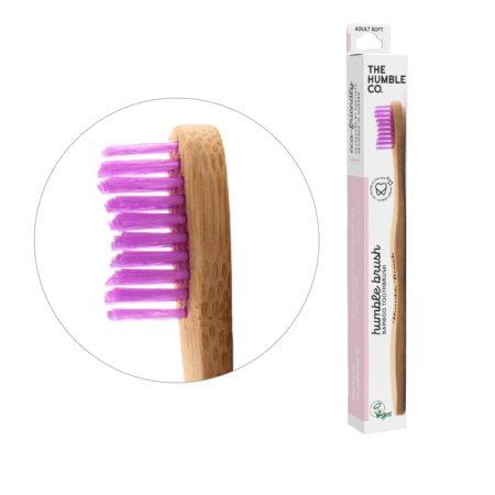 Humble Brush bambusz fogkefe soft - pink