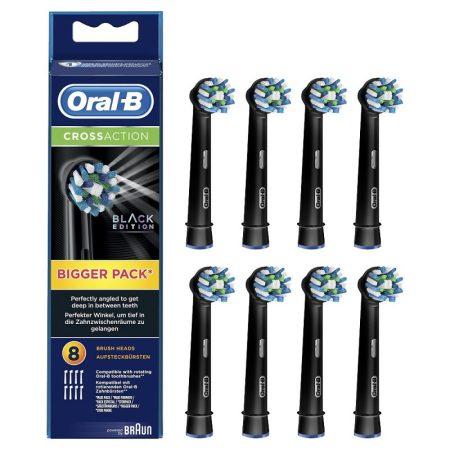 Oral-B EB50BK-8 CrossAction fekete pótfej 8db