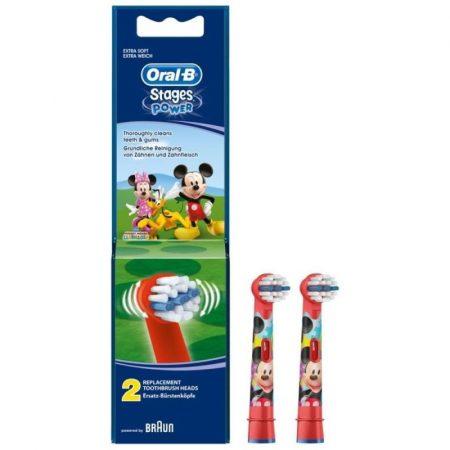Oral-B EB10-2 Stages Power gyermek fogkefe pótfej Mickey 2db