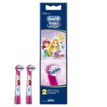 Oral-B EB10-2 Stages Power gyermek fogkefe pótfej Hercegnő 2db