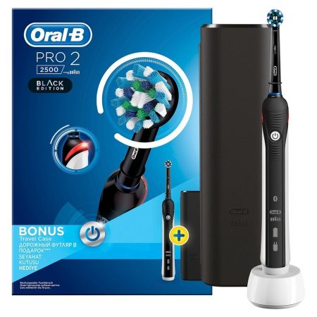 Oral-B PRO 2 2500 CrossAction Black Edition elektromos fogkefe