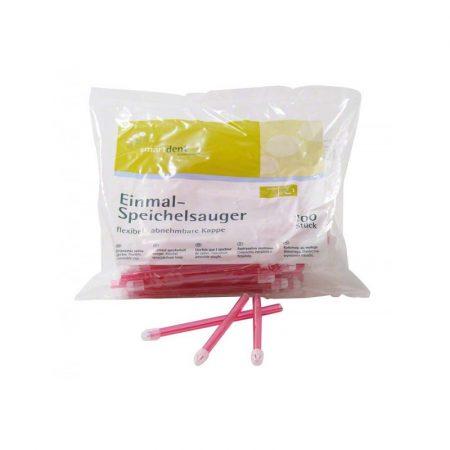 Flexibilis nyálszivó 100db - pink