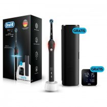 Oral-B PRO 2 2500 CrossAction Black Edition elektromos fogkefe + Braun ébresztő óra