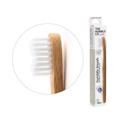 Humble Brush bambusz gyermek fogkefe ultra soft - fehér