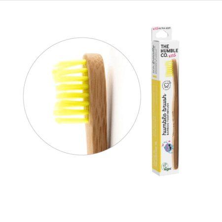 Humble Brush bambusz gyermek fogkefe ultra soft - sárga