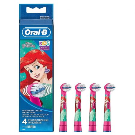 Oral-B EB10-4 Stages Power gyermek fogkefe pótfej Hercegnő 4db