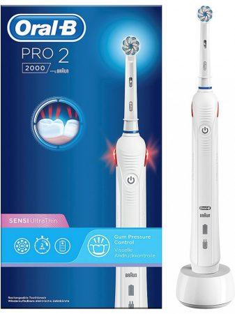 Oral-B PRO 2 2000 White Sensi UltraThin elektromos fogkefe