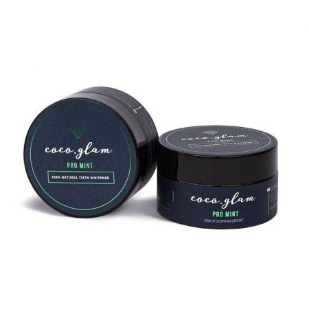 Coco Glam Pro Mint - menta ízű fogfehérítő por 30g