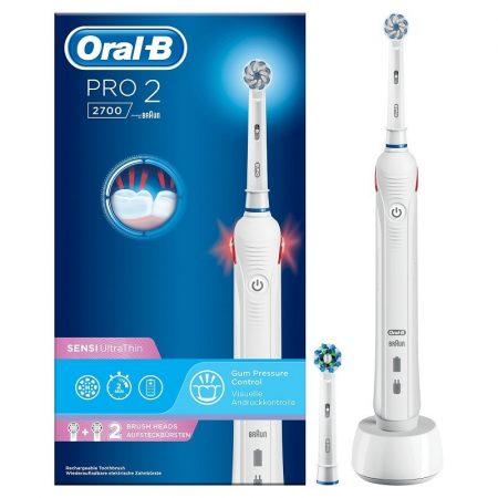 Oral-B PRO 2 2700 White Sensi UltraThin elektromos fogkefe