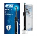 Oral-B Pro 1 750 Black Design Edition elektromos fogkefe + útitok