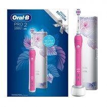 Oral-B Pro 2 2500 Pink Design Edition elektromos fogkefe + útitok