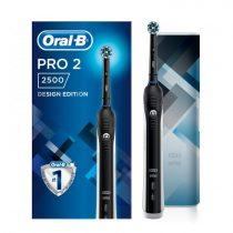 Oral-B Pro 2 2500 Black Design Edition elektromos fogkefe + útitok