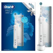 Oral-B Pro 2 2500 White Design Edition elektromos fogkefe + útitok