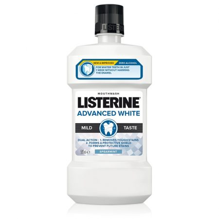 Listerine Advanced White Milder Taste szájvíz 500 ml