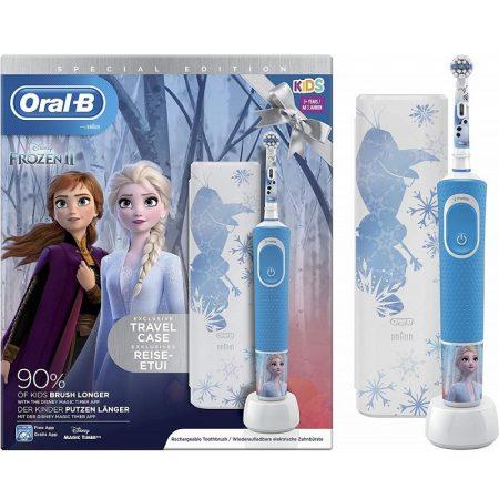 Oral-B D100 Vitality - Frozen II gyermek elektromos fogkefe + útitok
