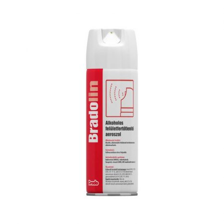 Bradolin alkoholos felületfertőtlenítő szer aeroszol 500ml