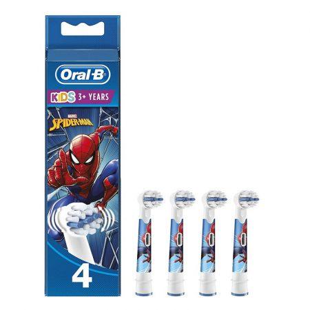 Oral-B EB10-4 Stages Power gyermek fogkefe pótfej Spiderman 4db