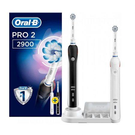 Oral-B PRO 2 2900 Black & White Sensi Duopack elektromos fogkefe csomag