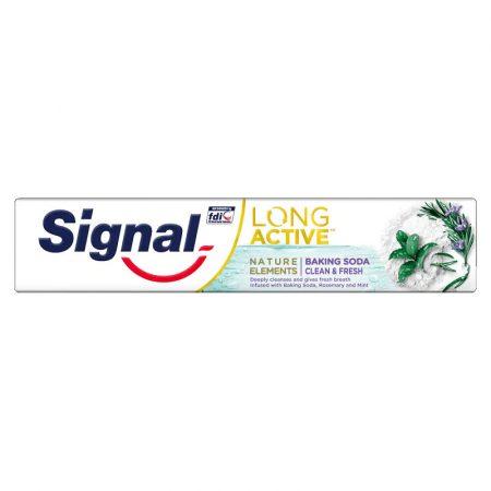 Signal Long Active Nature Elements Baking Soda Clean & Fresh fogkrém 75ml