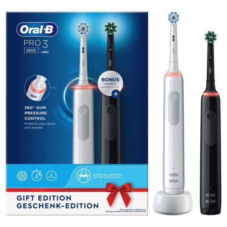 Oral-B PRO 3 3900 Black&White Duopack elektromos fogkefe csomag